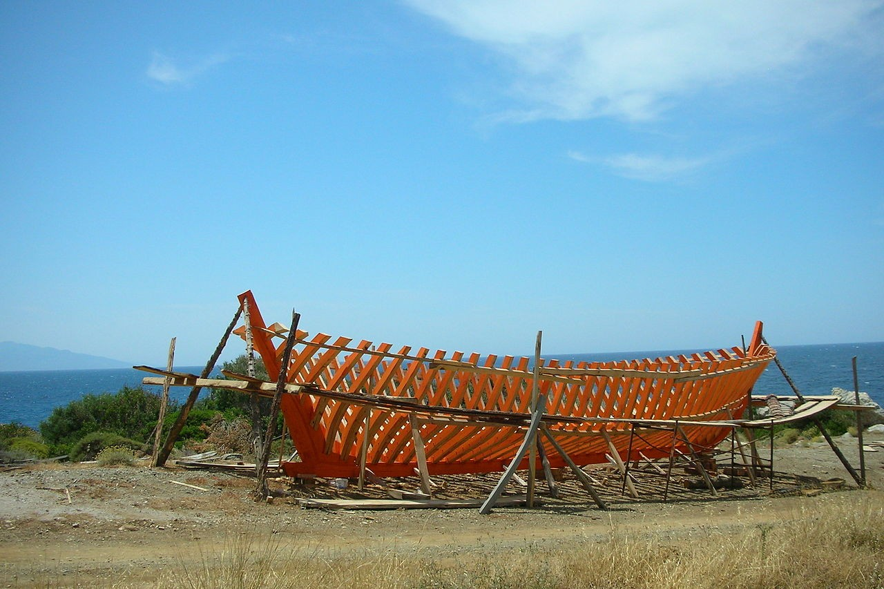 The old traditional tarsanas at Agios Isidoros, in samos