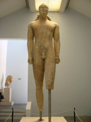 The bigest  Kouros, in-samos