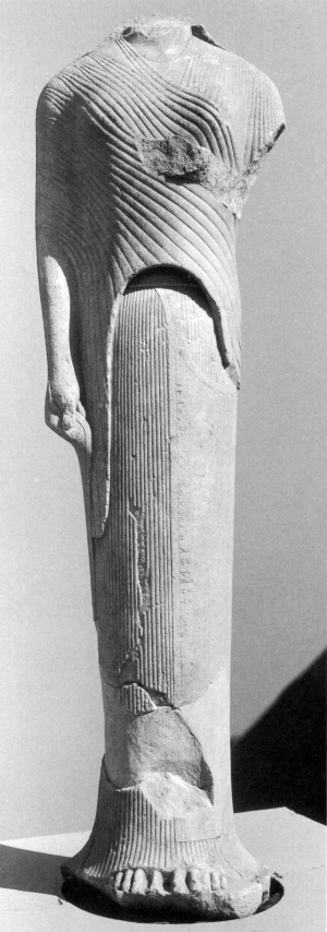Archaic Kore (statues of young girls), in-samos